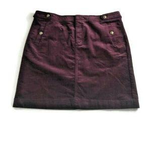 Talbots Size 16p A-Line Corduroy Skirt Burgundy